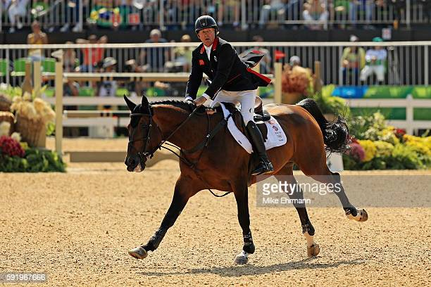 Nick Skelton of Great Britain riding Big Star competes during the Equestrian Jumping Individual Final Round on Day 14 of the Rio 2016 Olympic Games...