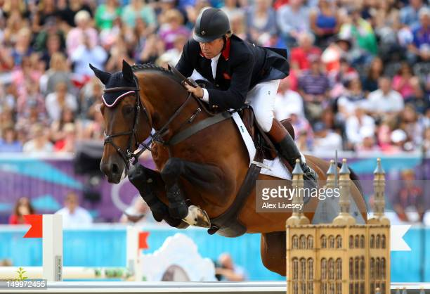 Nick Skelton of Great Britain riding Big Star competes in the Individual Jumping Equestrian on Day 12 of the London 2012 Olympic Games at Greenwich...