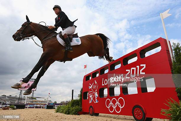 Nick Skelton of Great Britain riding Big Star in the Individual Jumping on Day 12 of the London 2012 Olympic Games at Greenwich Park on August 8 2012...