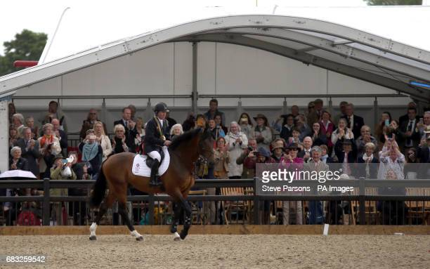 Nick Skelton on his horse Big Star retire at the Royal Windsor Horse Show which is held in the grounds of Windsor Castle in Berkshire