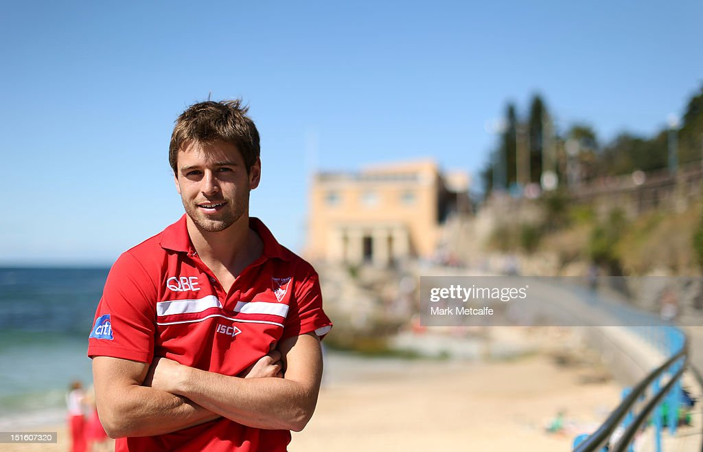Nick Smith poses during a Sydney Swans media session at Coogee Beach on September 9, 2012 in Sydney, Australia.