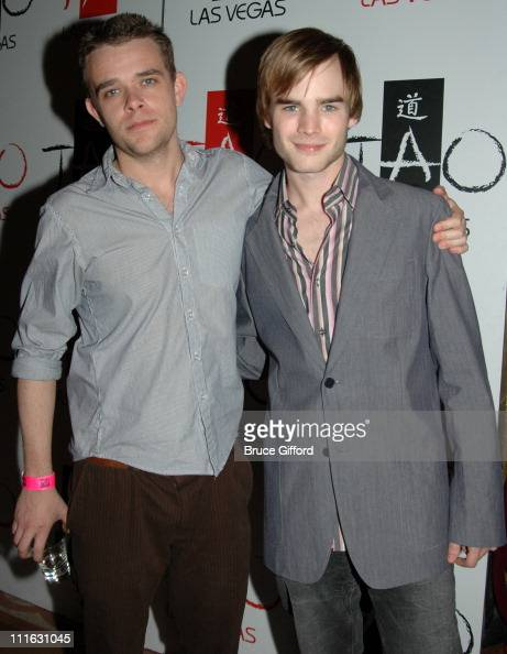 Nick Stahl and David Gallagher during Celebrity Birthday Celebration of David Gallagher and Kelly Hu February 11 2006 at Tao Nightclub Las Vegas in...