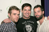 Nick Stahl Mark Cuban and Guest during Opening of Ghost Bar in 'W' Hotel at Victory Project Day One at W Hotel in Dallas Texas United States
