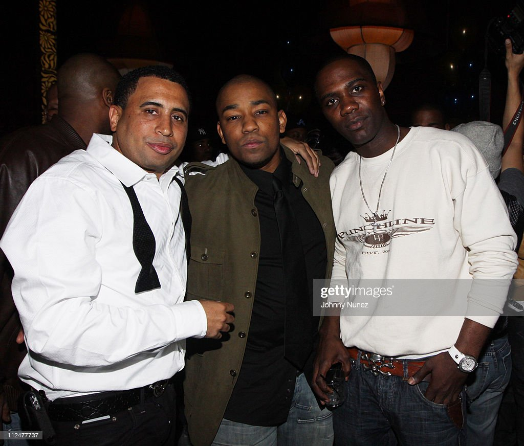 Nick Storm Dennis Da Menace and Nashawn Kearse attend Nick Storm's birthday party at Taj on April 15 2009 in New York City