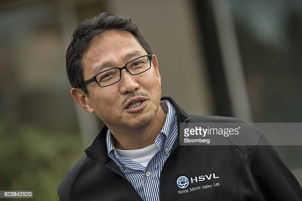 Nick Sugimoto senior program director for Honda Motor Co speaks during a press briefing at the Honda Silicon Valley Lab in Mountain View California...