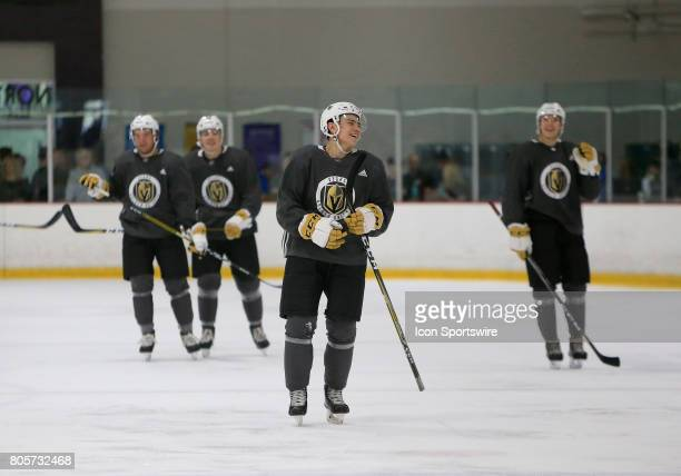 Nick Suzuki smiles during a break in the action at the Vegas Golden Knights Development Camp at the Las Vegas Ice Center on July 01 2017 in Las Vegas...