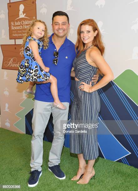 Nick Swisher and JoAnna Garcia Swisher at the Brooks Brothers Beverly Hills summer camp party benefitting St Jude Children's Research Hospital at...