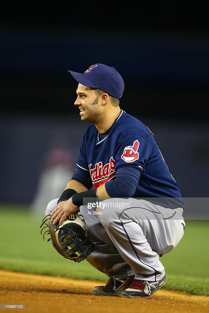 <a gi-track='captionPersonalityLinkClicked' href=/galleries/search?phrase=Nick+Swisher&family=editorial&specificpeople=206417 ng-click='$event.stopPropagation()'>Nick Swisher</a> #33 of the Cleveland Indians in action against the New York Yankees during their game on June 4, 2013 at Yankee Stadium in the Bronx borough of New York City