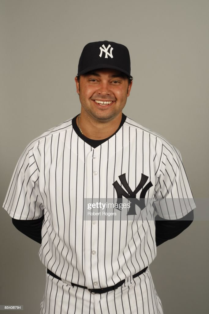 Nick Swisher of the New York Yankees poses during Photo Day on Thursday, February 19, 2009 at Steinbrenner Field in Tampa, Florida.