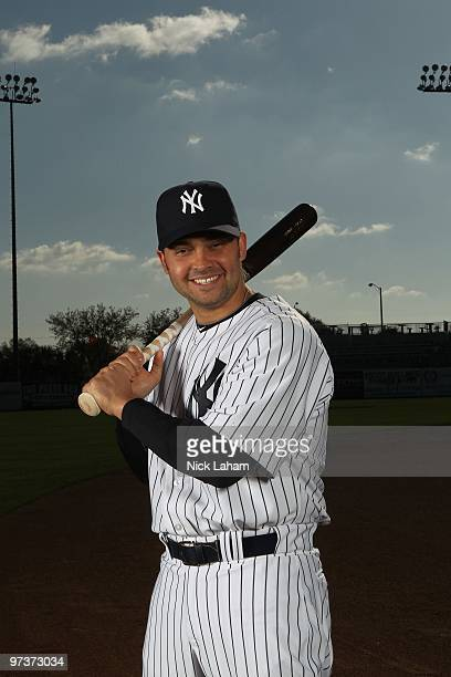 Nick Swisher of the New York Yankees poses for a photo during Spring Training Media Photo Day at George M Steinbrenner Field on February 25 2010 in...