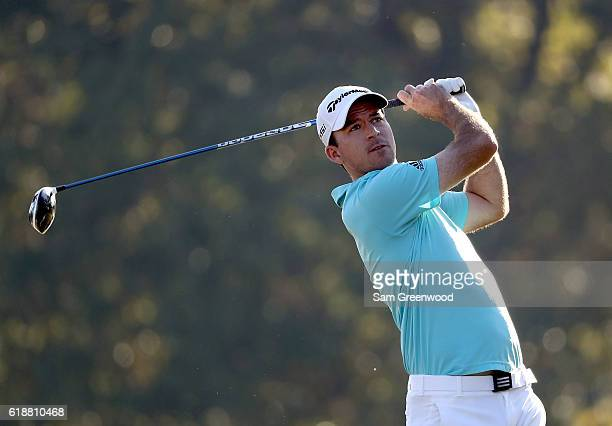 Nick Taylor of Canada plays his shot from the fifth tee during the Second Round of the Sanderson Farms Championship at the Country Club of Jackson on...