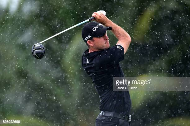Nick Taylor of Canada plays his tee shot on the first hole during the first round of the Puerto Rico Open at Coco Beach on March 23 2017 in Rio...