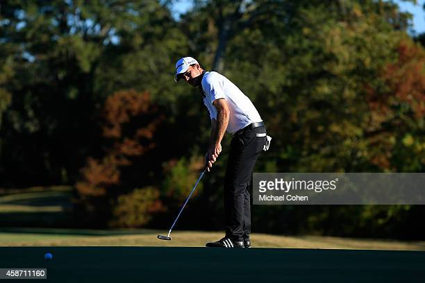 Nick Taylor of Canada putts on the 17th hole during the Final Round of the Sanderson Farms Championship at The Country Club of Jackson on November 9...