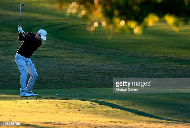 Nick Taylor of Canada takes his second shot on the 18th hole during round two of the Sanderson Farms Championship at The Country Club of Jackson on...