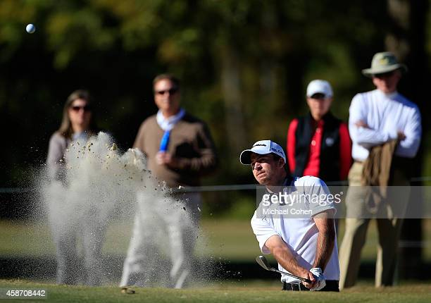 Nick Taylor of Canada takes his third shot on the 11th hole during the Final Round of the Sanderson Farms Championship at The Country Club of Jackson...