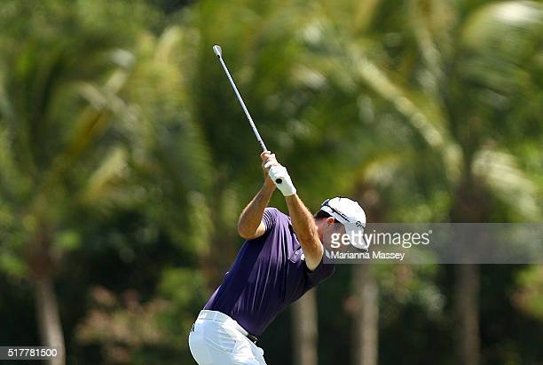 Nick Taylor of Canada tees off on the sixth hole during the final round of the Puerto Rico Open at Coco Beach on March 27 2016 in Rio Grande Puerto...