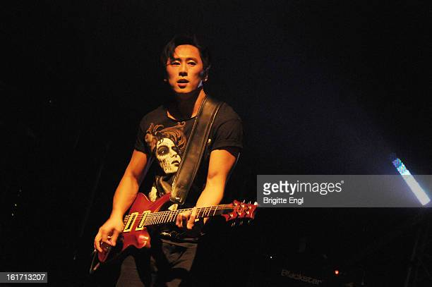Nick Tsang of Modestep perform on stage at KOKO on February 14 2013 in London England