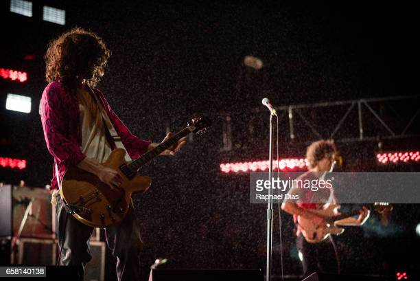 Nick Valensi and Albert Hammond Jr from The Strokes performs at Lollapalooza Brazil day 2 at Autodromo de Interlagos on March 26 2017 in Sao Paulo...