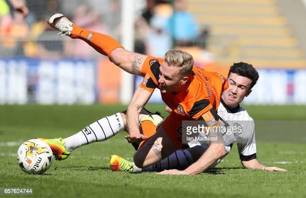Nick van der Velden of Dundee United vies with Stevie Mallan of St Mirren during the IrnBru Cup Final between Dundee United and St Mirren at Fir Park...