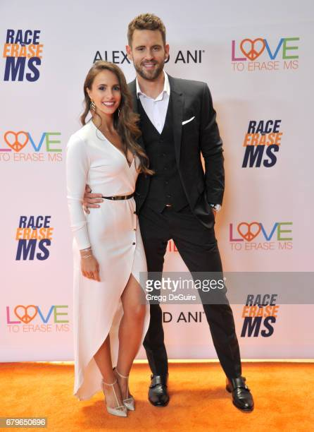 Nick Viall and Vanessa Grimaldi arrive at the 24th Annual Race To Erase MS Gala at The Beverly Hilton Hotel on May 5 2017 in Beverly Hills California