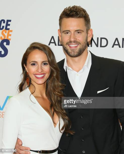 Nick Viall and Vanessa Grimaldi attend the 24th Annual Race To Erase MS Gala on May 05 2017 in Beverly Hills California