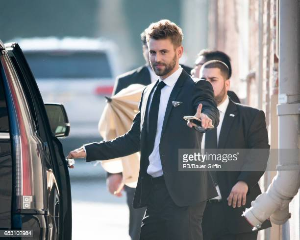 Nick Viall is seen at 'Jimmy Kimmel Live' on March 13 2017 in Los Angeles California