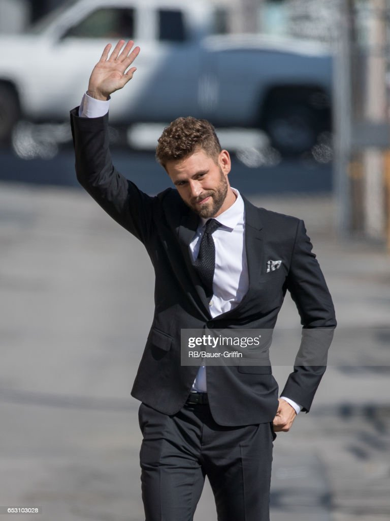 Nick Viall is seen at 'Jimmy Kimmel Live' on March 13, 2017 in Los Angeles, California.