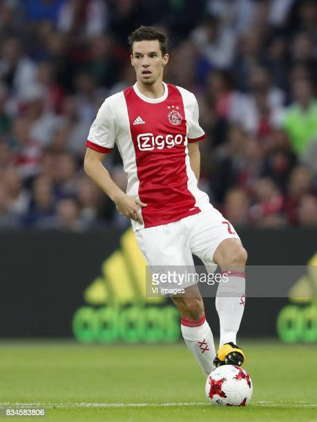 Nick Viergever of Ajax during the UEFA Europa League fourth round qualifying first leg match between Ajax Amsterdam and RosenBorg BK at the Amsterdam...