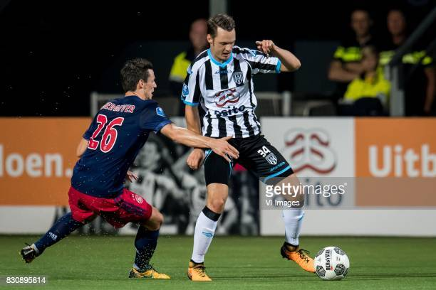 Nick Viergever of Ajax Jeff Hardeveld of Heracles Almelo during the Dutch Eredivisie match between Heracles Almelo and Ajax Amsterdam at Polman...