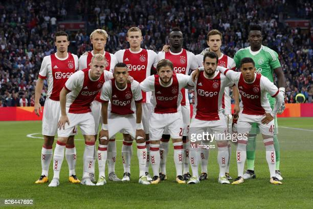 Nick Viergever of Ajax Kasper Dolberg of Ajax Matthijs de Ligt of Ajax Davinson Sanchez of Ajax Joel Veltman of Ajax goalkeeper Andre Onana of Ajax...