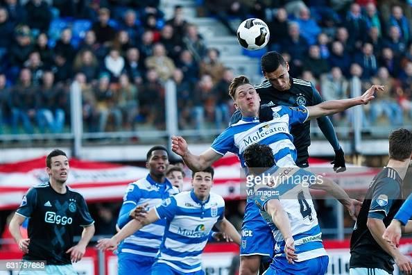 Nick Viergever of Ajax Kingsley Ehizibue of PEC Zwolle Ted van de Pavert of PEC Zwolle Josef Kvida of PEC Zwolle Anwar El Ghazi of Ajax Dirk...