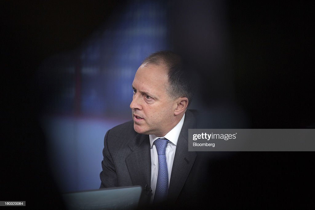 Nick von Schirnding, chief executive officer of Bumi Plc, speaks during a Bloomberg Television interview in London, U.K., on Tuesday, Jan. 29, 2013. Bumi Plc, the coal producer that plunged 69 percent in London trading last year amid a dispute over ownership, said investors should reject a proposal by one of its founders, Nathaniel Rothschild, to regain control. Photographer: Simon Dawson/Bloomberg via Getty Images