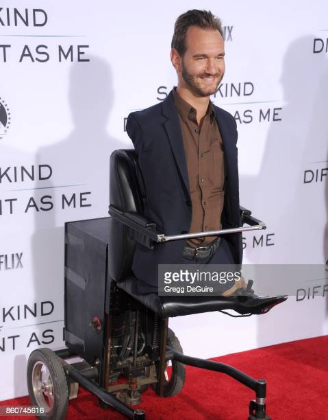 Nick Vujicic arrives at the premiere of Paramount Pictures and Pure Flix Entertainment's 'Same Kind Of Different As Me' at Westwood Village Theatre...