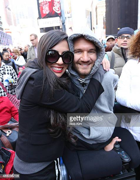 Nick Vujicic New York Times best selling author motivational speaker and leader of the nonprofit organization Life Without Limbs greets fans at the...