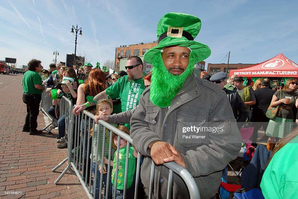 Nick Washington attends the St. Patrick's Day Parade on the streets of Detroit on March 11, 2012 in Detroit, Michigan.