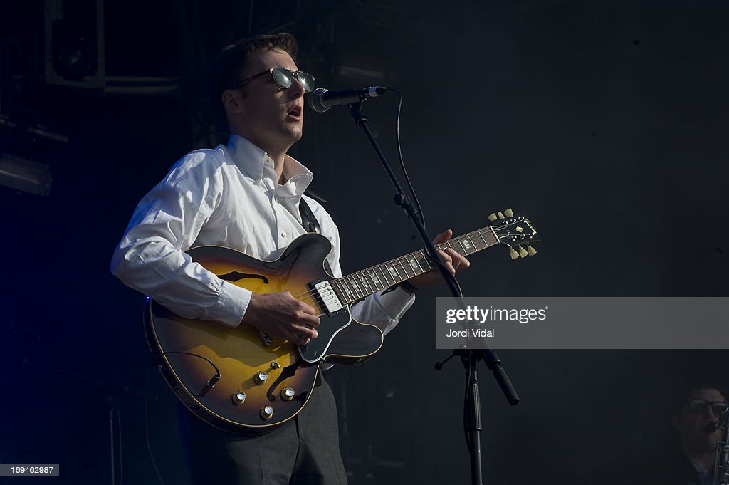 Nick Waterhouse performs on stage on Day 3 of Primavera Sound Festival at Parc del Forum on May 24, 2013 in Barcelona, Spain.