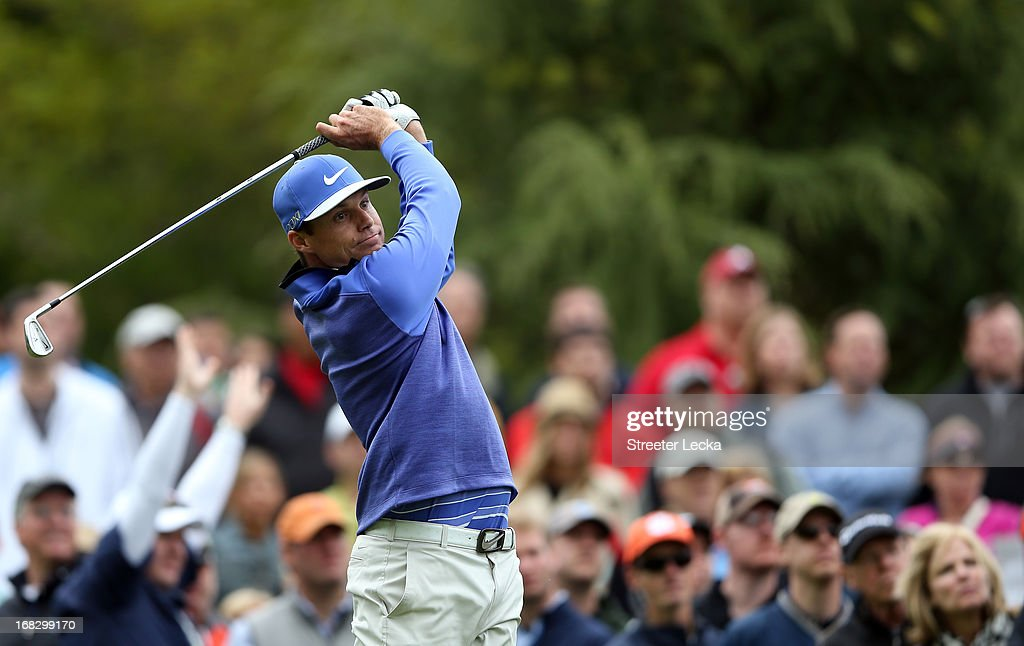 <a gi-track='captionPersonalityLinkClicked' href=/galleries/search?phrase=Nick+Watney&family=editorial&specificpeople=722428 ng-click='$event.stopPropagation()'>Nick Watney</a> during the third round of the Wells Fargo Championship at Quail Hollow Club on May 4, 2013 in Charlotte, North Carolina.