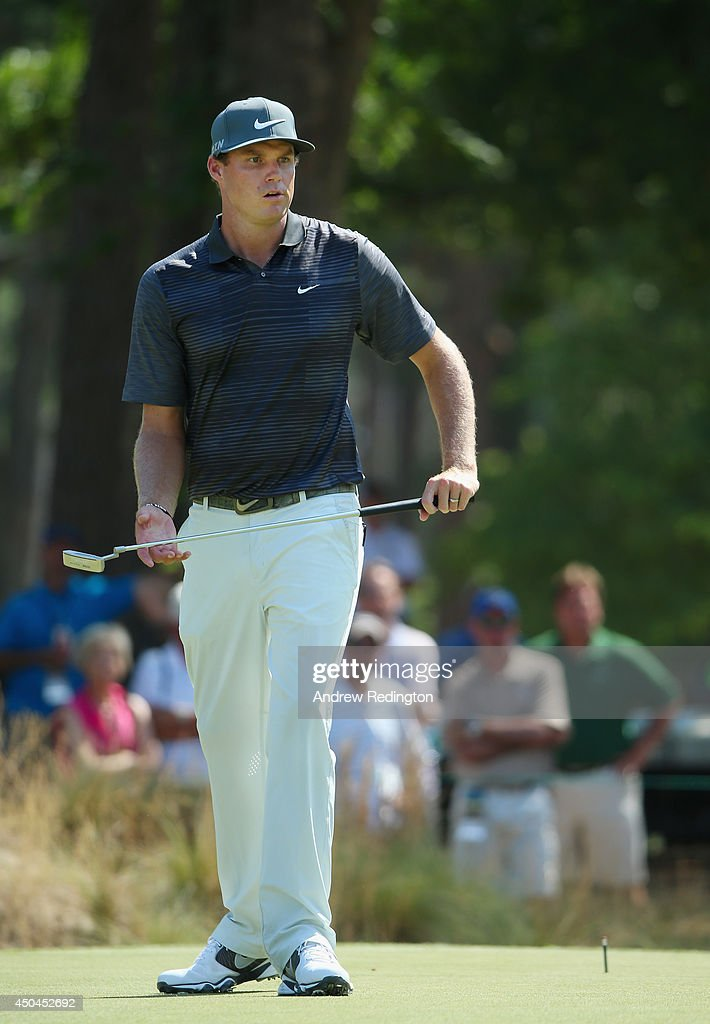 Nick Watney of the United States waits on a green during a practice round prior to the start of the 114th U.S. Open at Pinehurst Resort & Country Club, Course No. 2 on June 11, 2014 in Pinehurst, North Carolina.