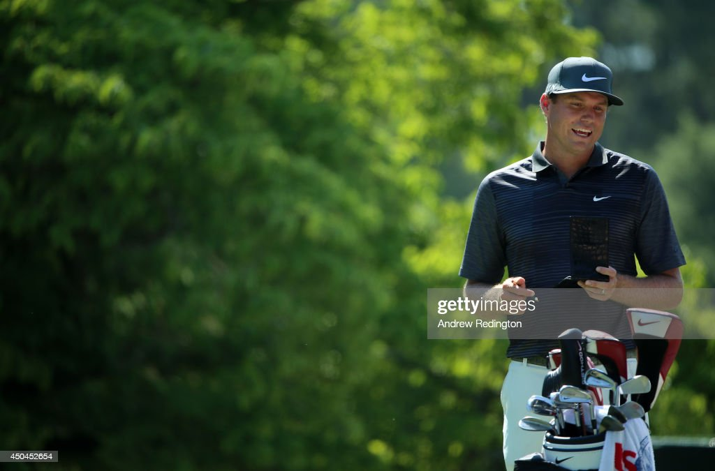 Nick Watney of the United States waits on a tee during a practice round prior to the start of the 114th U.S. Open at Pinehurst Resort & Country Club, Course No. 2 on June 11, 2014 in Pinehurst, North Carolina.