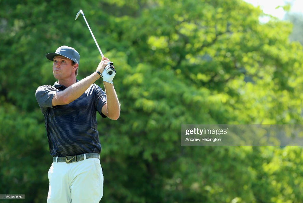 Nick Watney of the United States watches a shot during a practice round prior to the start of the 114th U.S. Open at Pinehurst Resort & Country Club, Course No. 2 on June 11, 2014 in Pinehurst, North Carolina.