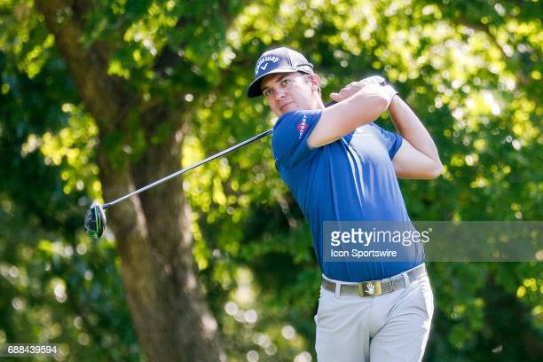 Nick Watney plays his shot from the 12th tee during the first round of the Dean Deluca Invitational on May 25 2017 at Colonial Country Club in Fort...