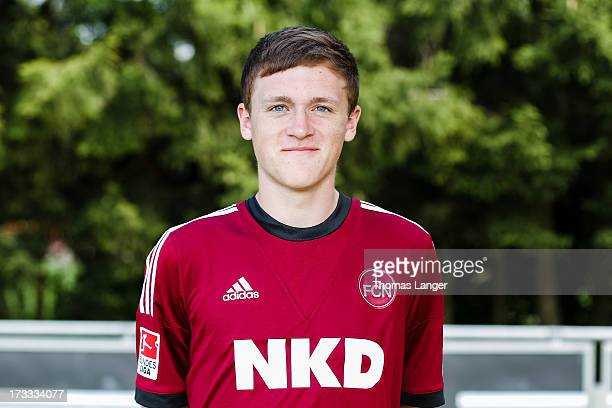 Nick Weber poses during the FC Nuernberg team presentation at Sportpark Valznerweiher on July 9 2013 in Nuremberg Germany