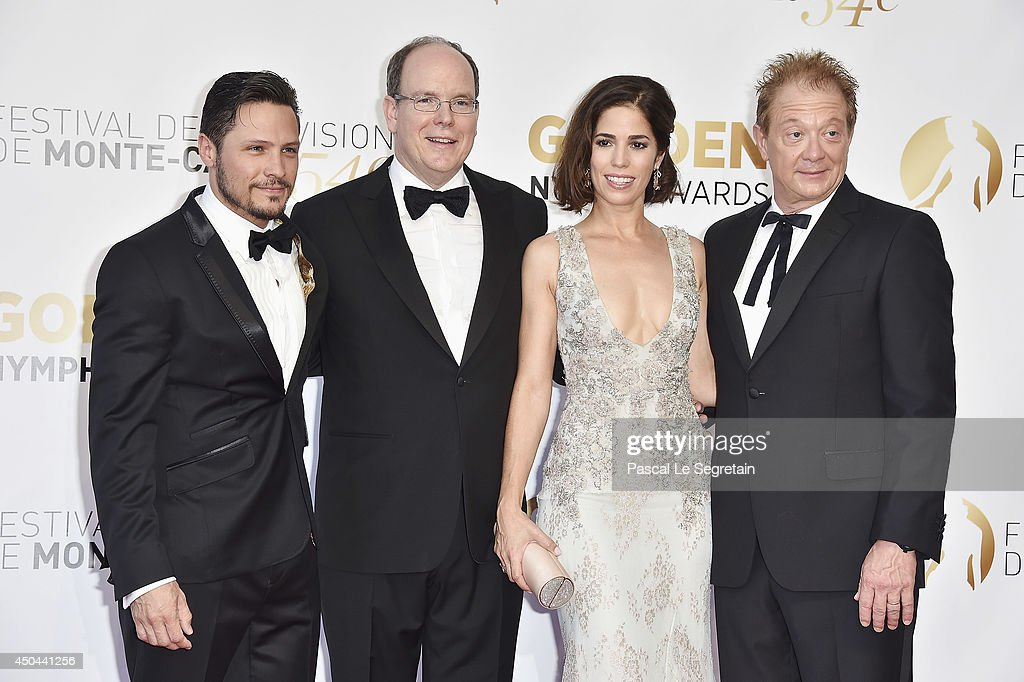 Nick Wechler, <a gi-track='captionPersonalityLinkClicked' href=/galleries/search?phrase=Prince+Albert+II+of+Monaco&family=editorial&specificpeople=201707 ng-click='$event.stopPropagation()'>Prince Albert II of Monaco</a>, <a gi-track='captionPersonalityLinkClicked' href=/galleries/search?phrase=Ana+Ortiz+-+Actress&family=editorial&specificpeople=12934861 ng-click='$event.stopPropagation()'>Ana Ortiz</a> and Jeff Perry arrive at the closing ceremony of the 54th Monte-Carlo Television Festival on June 11, 2014 in Monte-Carlo, Monaco.