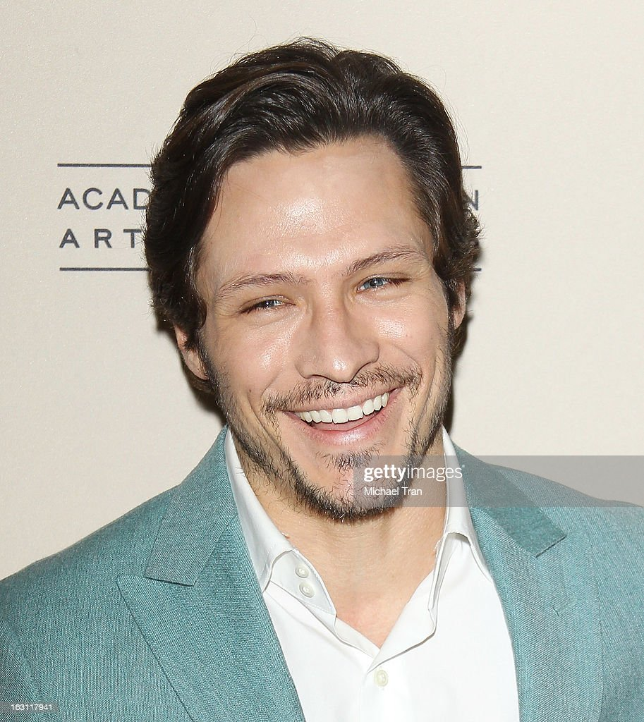 <a gi-track='captionPersonalityLinkClicked' href=/galleries/search?phrase=Nick+Wechsler+-+Actor&family=editorial&specificpeople=2210698 ng-click='$event.stopPropagation()'>Nick Wechsler</a> arrives at The Academy of Television Arts & Sciences presents an evening with 'Revenge' held at Leonard H. Goldenson Theatre on March 4, 2013 in North Hollywood, California.
