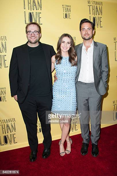 Nick Wernham Alison Brie and Justin Chatwin arrive at the premiere of Orion releasing's 'No Stranger Than Love' at the Landmark Theatre on June 14...