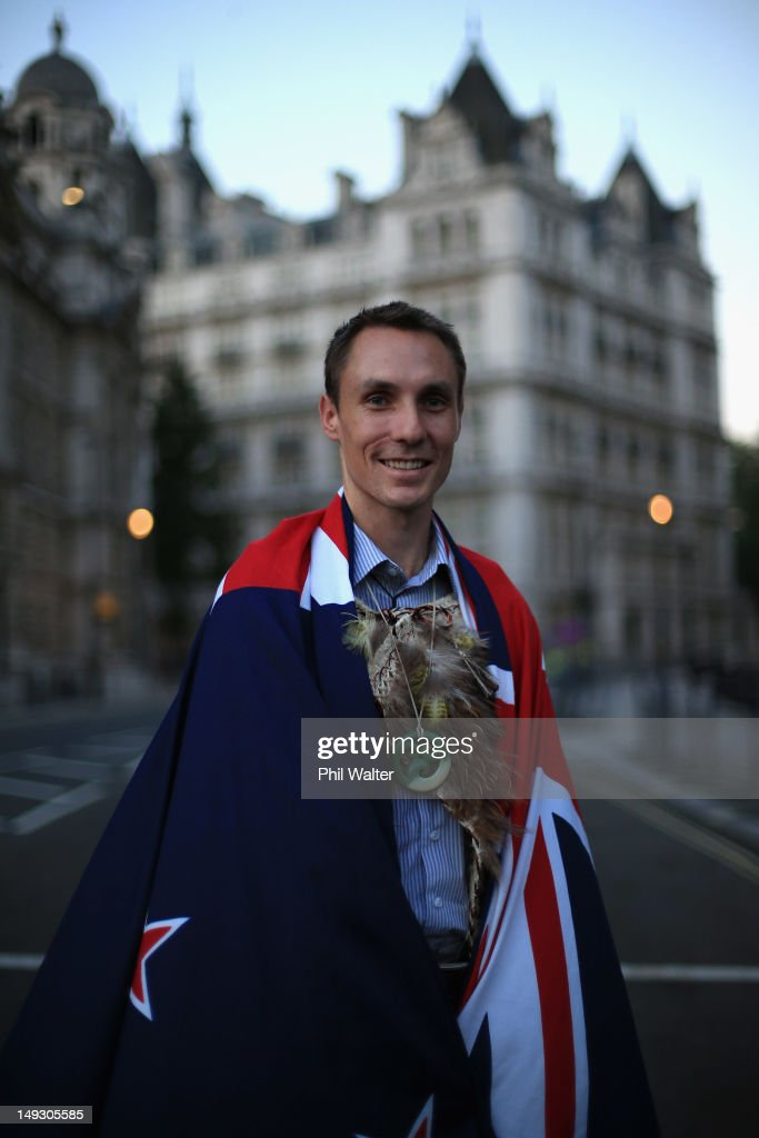 Nick Willis of New Zealand poses for a portrait after being announced as the flagbearer for the opening ceremony during the NZOC Governor General's Gala Dinner ahead of the London 2012 Olympic Games at Banqueting House, Whitehall on July 26, 2012 in London, England.