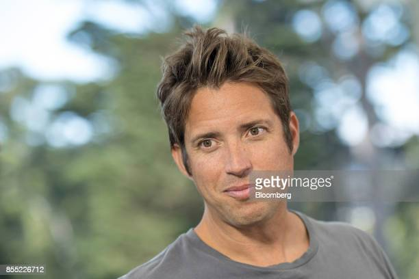 Nick Woodman founder and chief executive officer of GoPro Inc listens during a Bloomberg Technology television interview in San Francisco California...