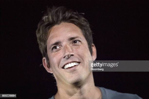 Nick Woodman founder and chief executive officer of GoPro Inc smiles during an event in San Francisco California US on Thursday Sept 28 2017...