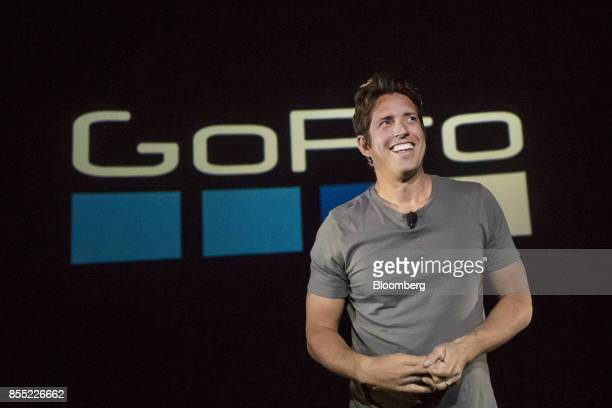 Nick Woodman founder and chief executive officer of GoPro Inc speaks during an event in San Francisco California US on Thursday Sept 28 2017...