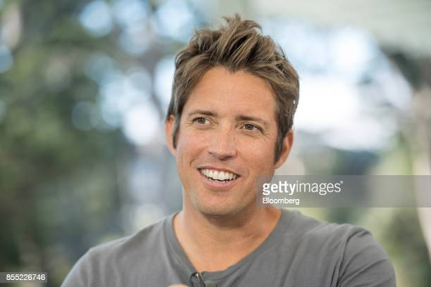 Nick Woodman founder and chief executive officer of GoPro Inc speaks during a Bloomberg Technology television interview in San Francisco California...